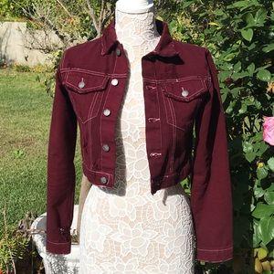 LF cropped jean jacket